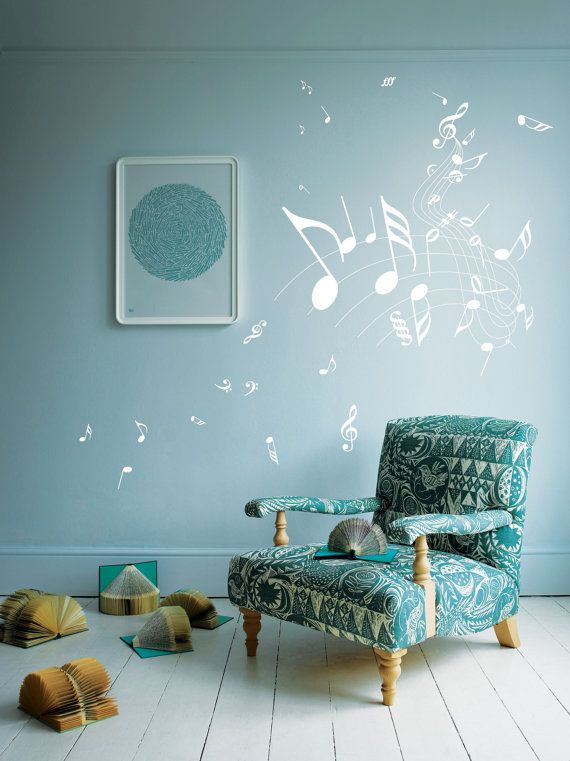 Car Nursery Wall Decor : Music note children nursery car art wall stickers