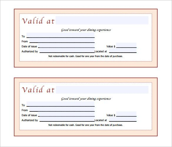 Gift Certificate Template \u2013 34+ Free Word, Outlook, PDF, InDesign