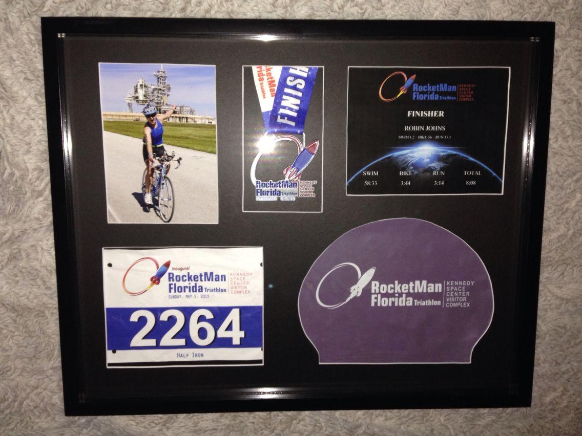 Triathlon Racebox - 16x20 - Shadowbox - Picture Frame Collage | Triatlón