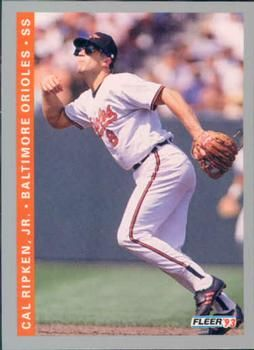 1993 Fleer 551 Cal Ripken Jr Front Baseball Cards