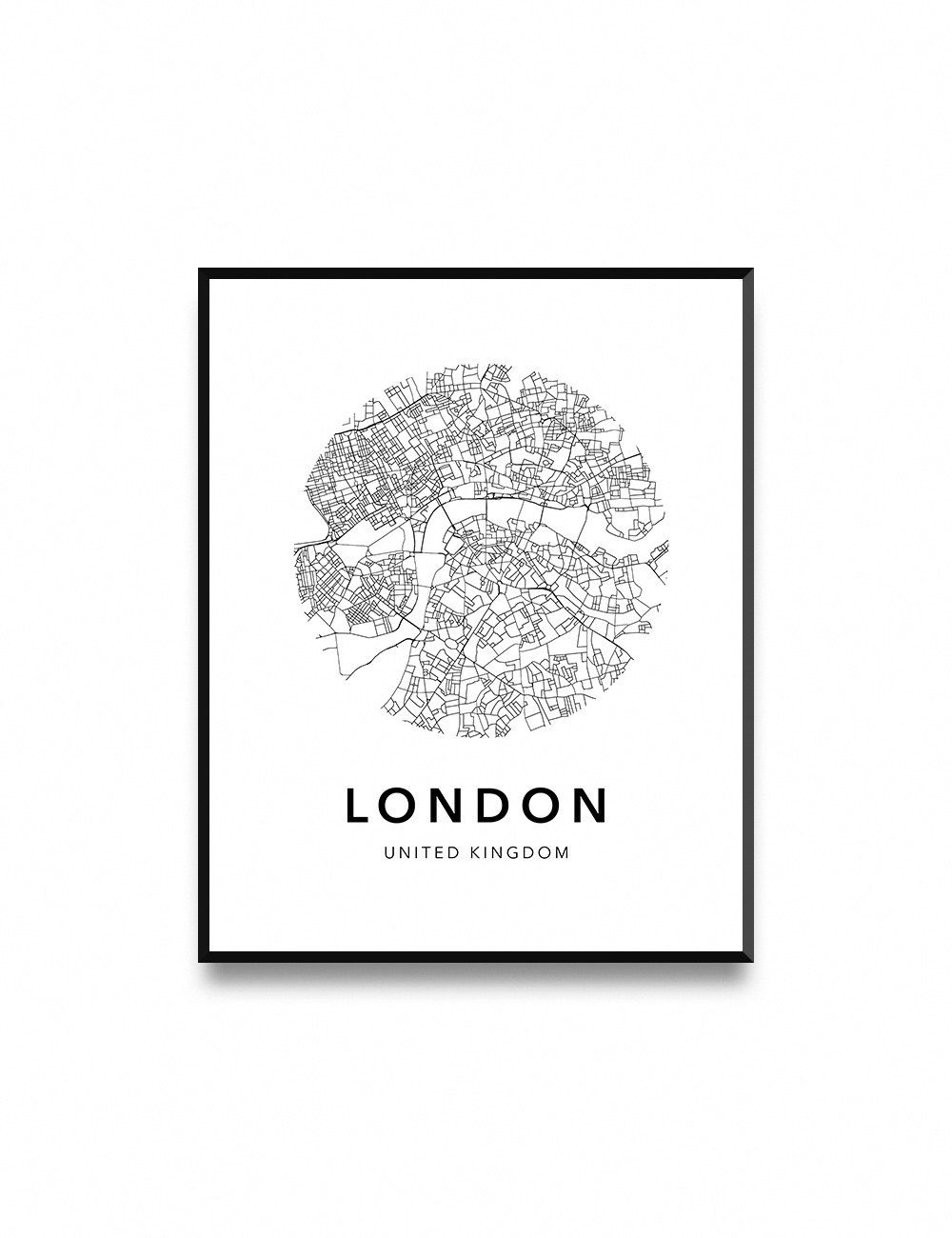 London Map Poster Map Of London Poster London Map London City Map