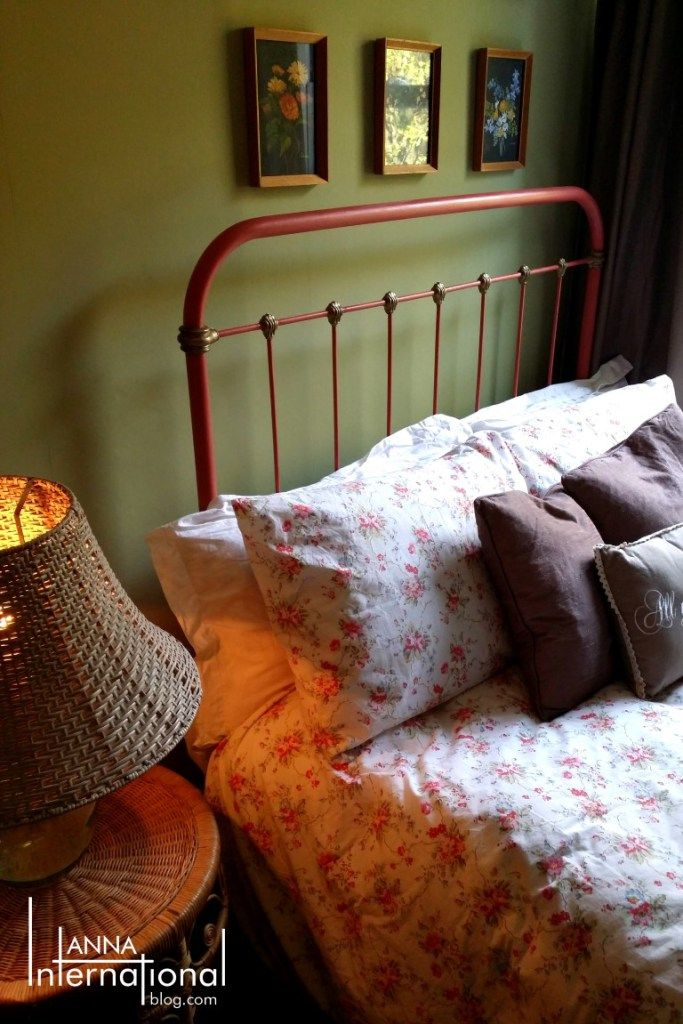 How to use Chalk Paint on Metal: Antique French Cast Iron Bed ...