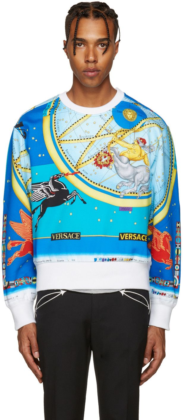 Versace - Multicolor Space Pullover  1550.   My Style   Versace ... 3c5fe5bc630
