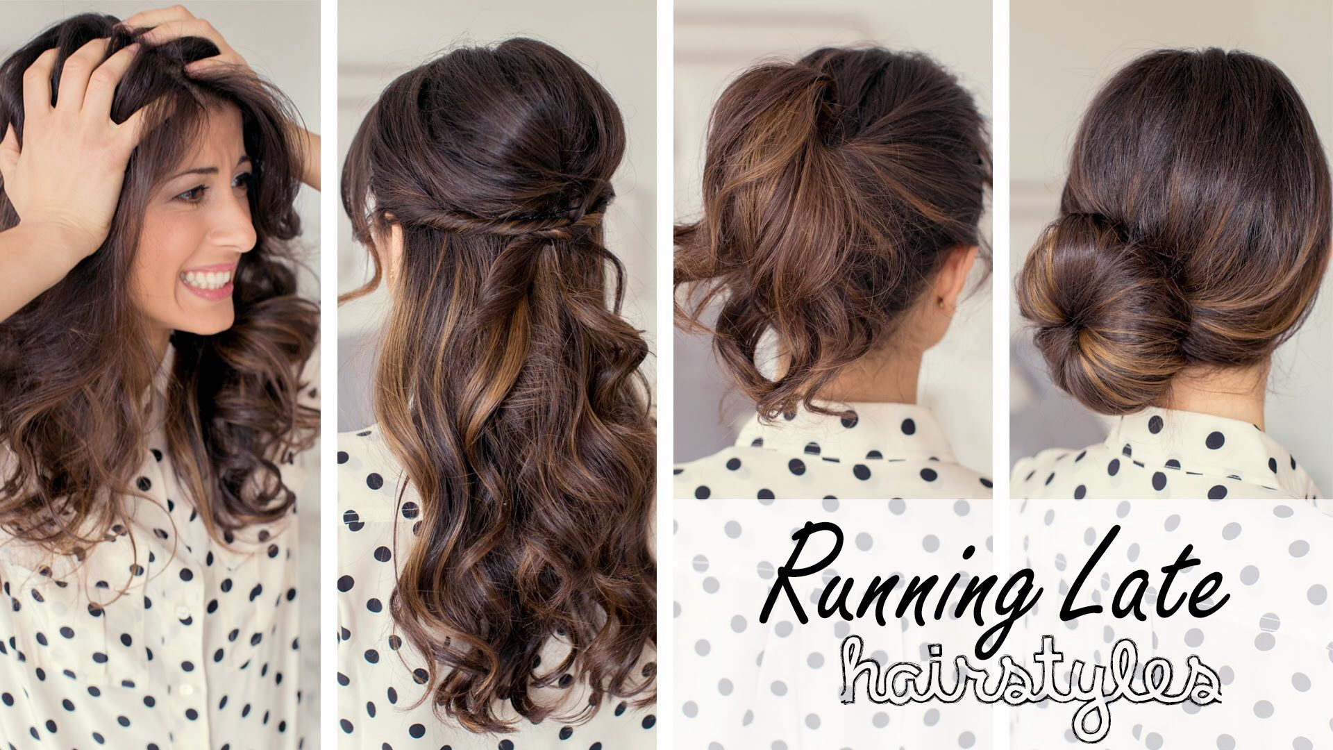 If your running late for school or work these hairstyles are so