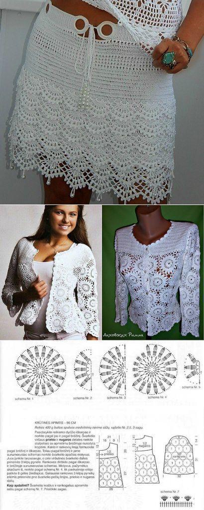 Pin de Elisa Magaña en manga larga blusas | Pinterest | Ganchillo ...