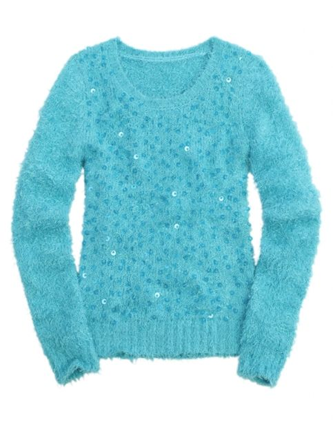 sequin fuzzy sweater girls sweaters clothes shop justice