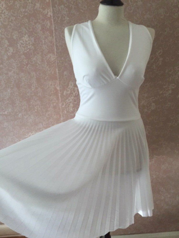 Marilyn Monroe White Dress Halter Top Pleated Skirt Halloween ...