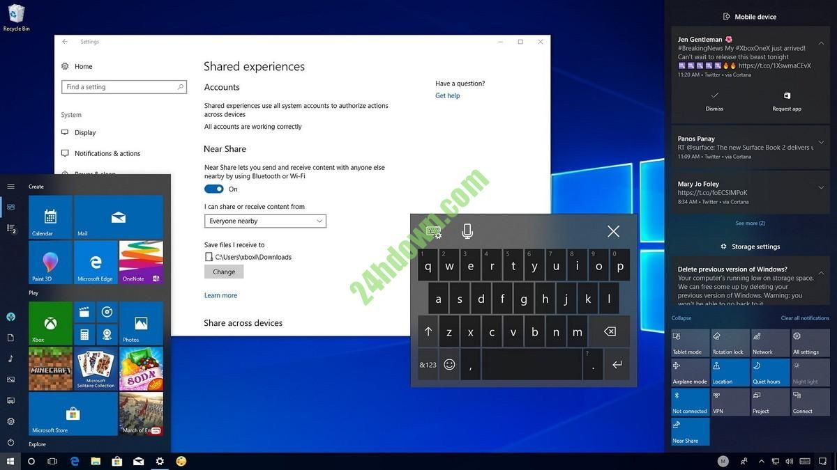 12GB] Windows 10 All In One Build 17035 (x86/x64/ARM) ISO What's