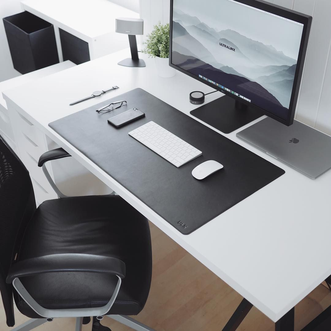 Wool Felt Desk Pad Light Grey Desk Pad Office Desk Decor Desk Decor