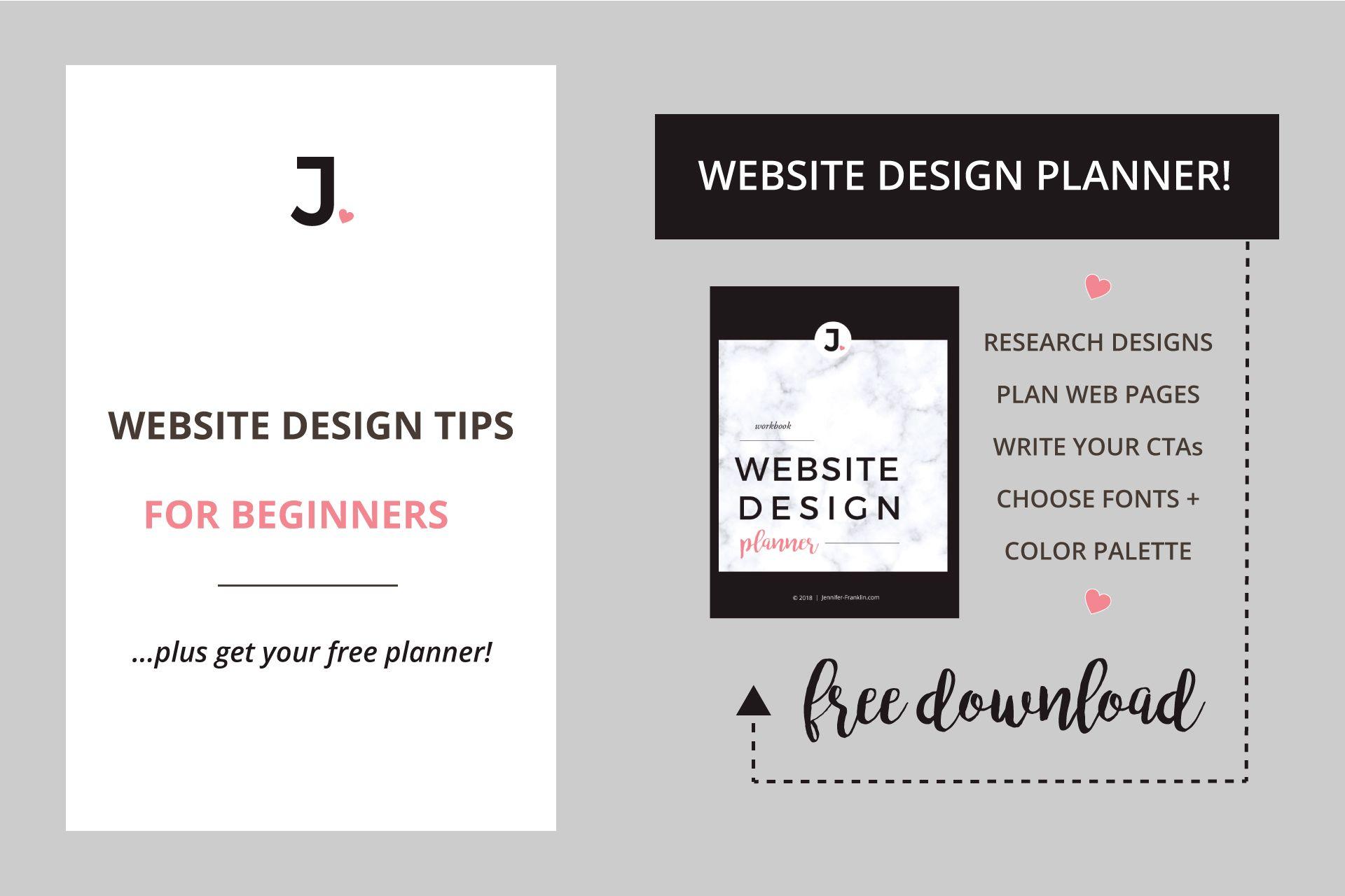 Website Design Tips For Beginners Free Web Design Planner Free Web Design Web Design Website Design