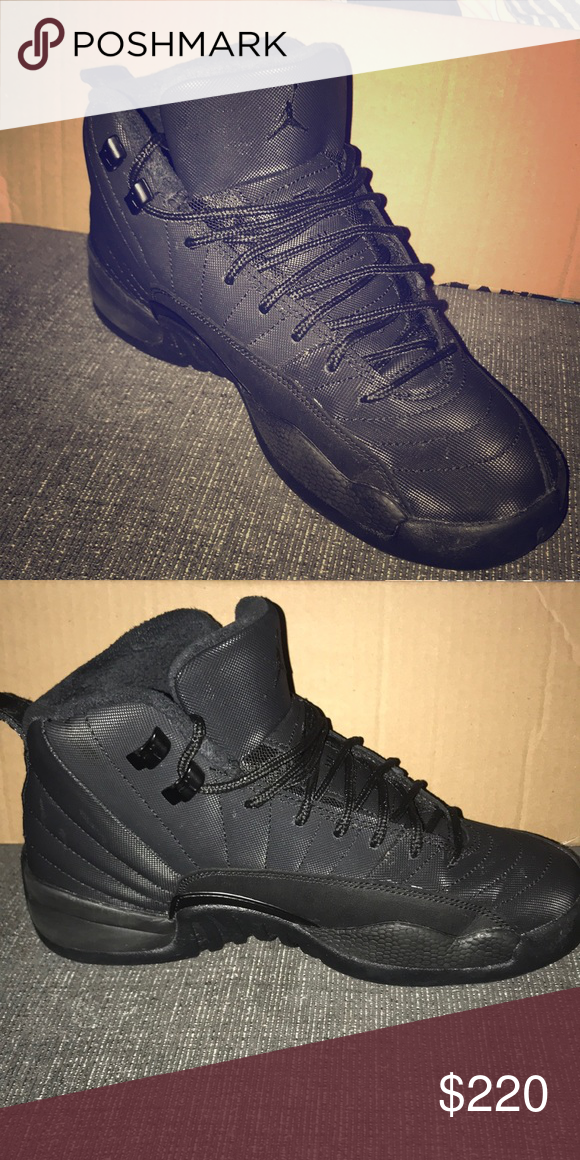 online store 2ea98 5bc40 NEW Jordan Retro 12 Winter (Kids 6.5 or Women 7-8) Black ...