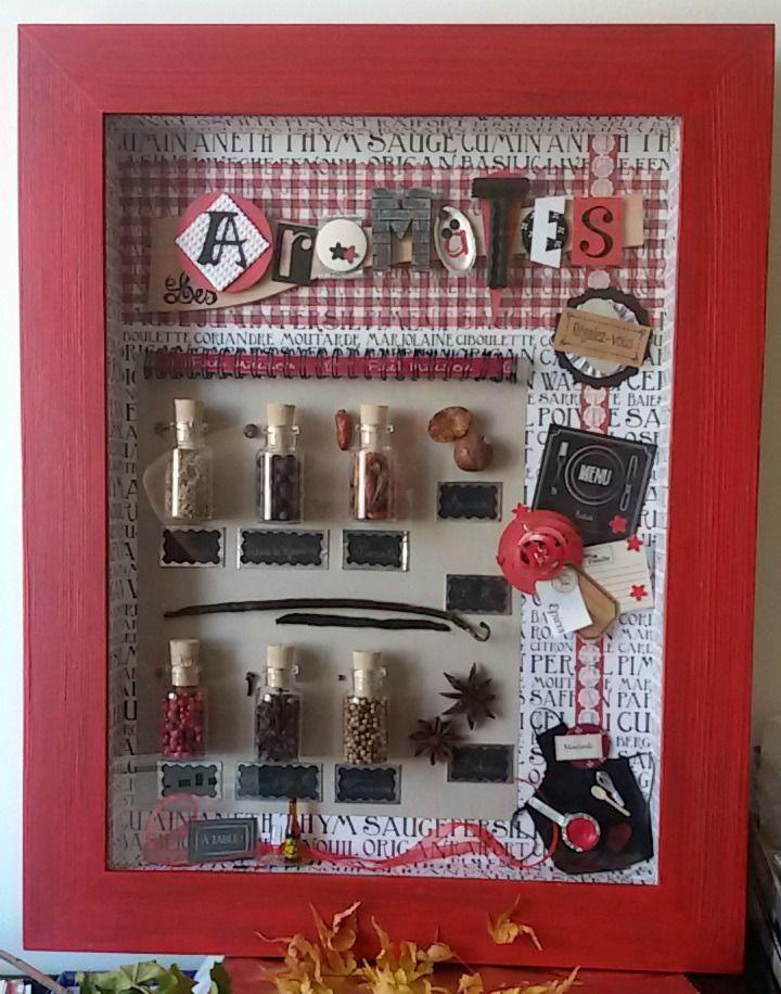 cadre décoratif miniatures : les aromates : Décorations murales par deckat-deco
