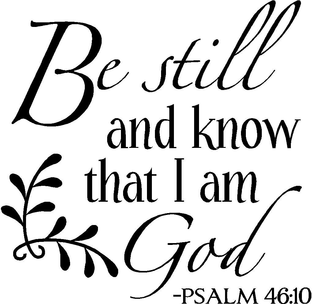 Be still and know christian wall decals quotes and bible verses