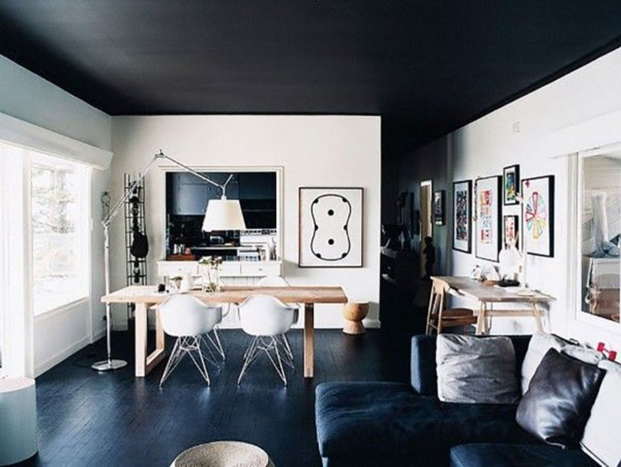 Here S Why You Should Paint Your Ceiling Black Black Ceiling House Interior Dark Ceiling