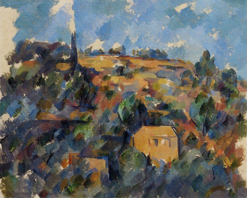 Paul Cezanne Houses On A Hill Provence Paul Cezanne Paintings Paul Cezanne Cezanne Art