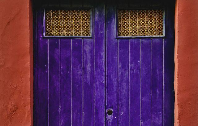 violet old door by Fabio Cataldo (NEW FACEBOOK PAGE), via Flickr