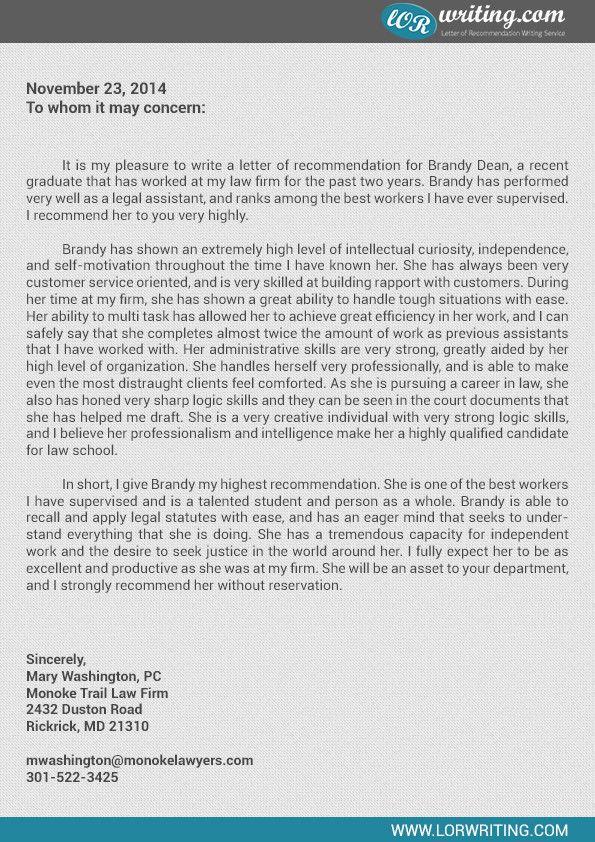 Law School Letter From Employer Lovely Re