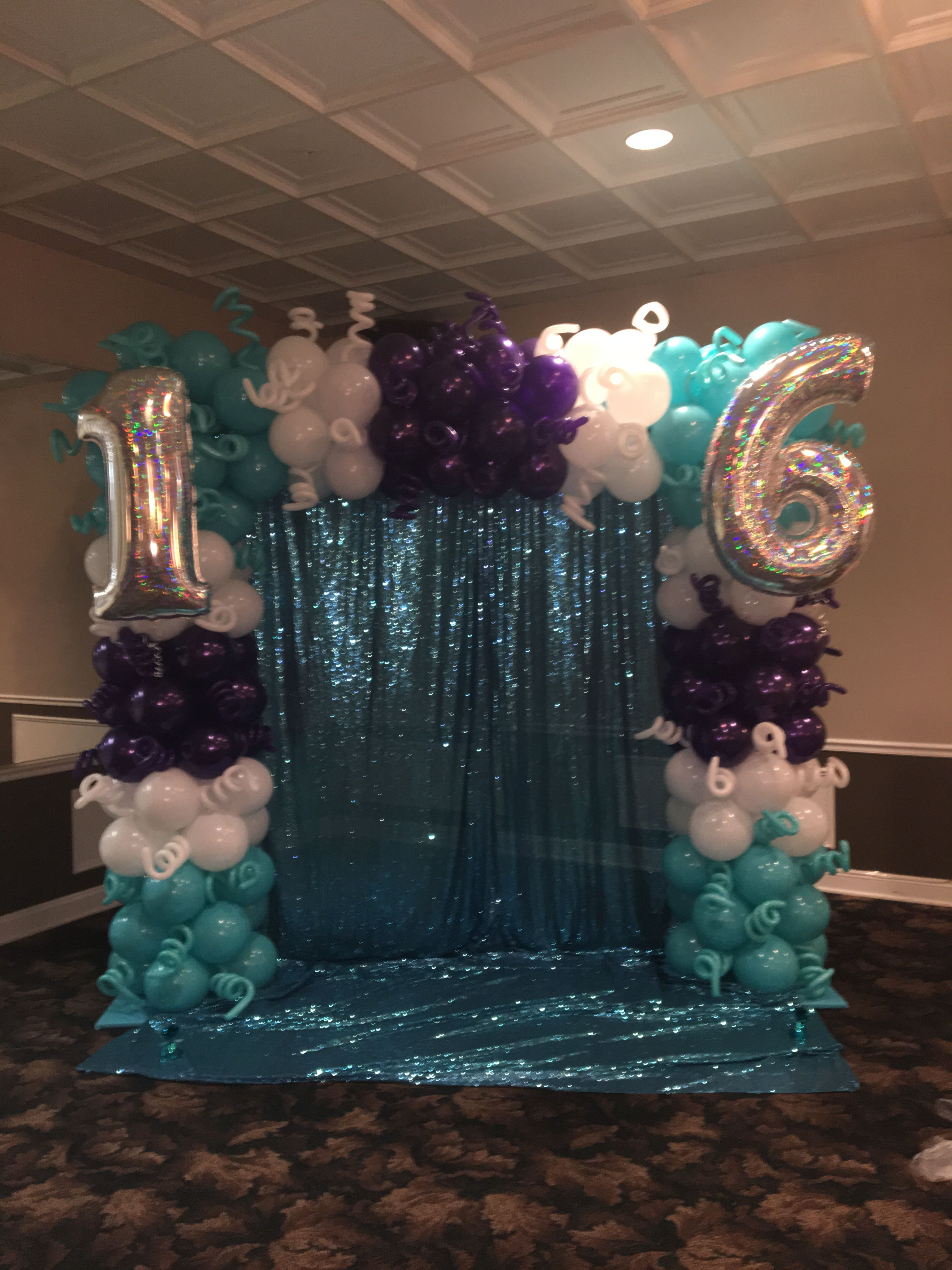 Sweet 16 | balloon decor | Sweet 16, Sweet 16 centerpieces ...