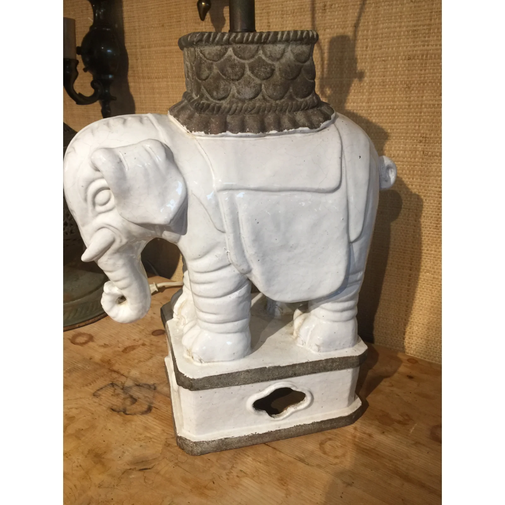Large White Ceramic Italian Elephant Table Lamp Elephant Table Lamp Elephant Table Elephant