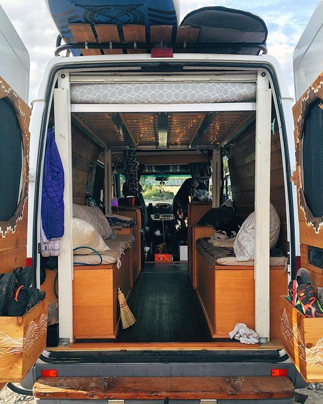 Hoist bed, wall beds, under storage Campervan interior