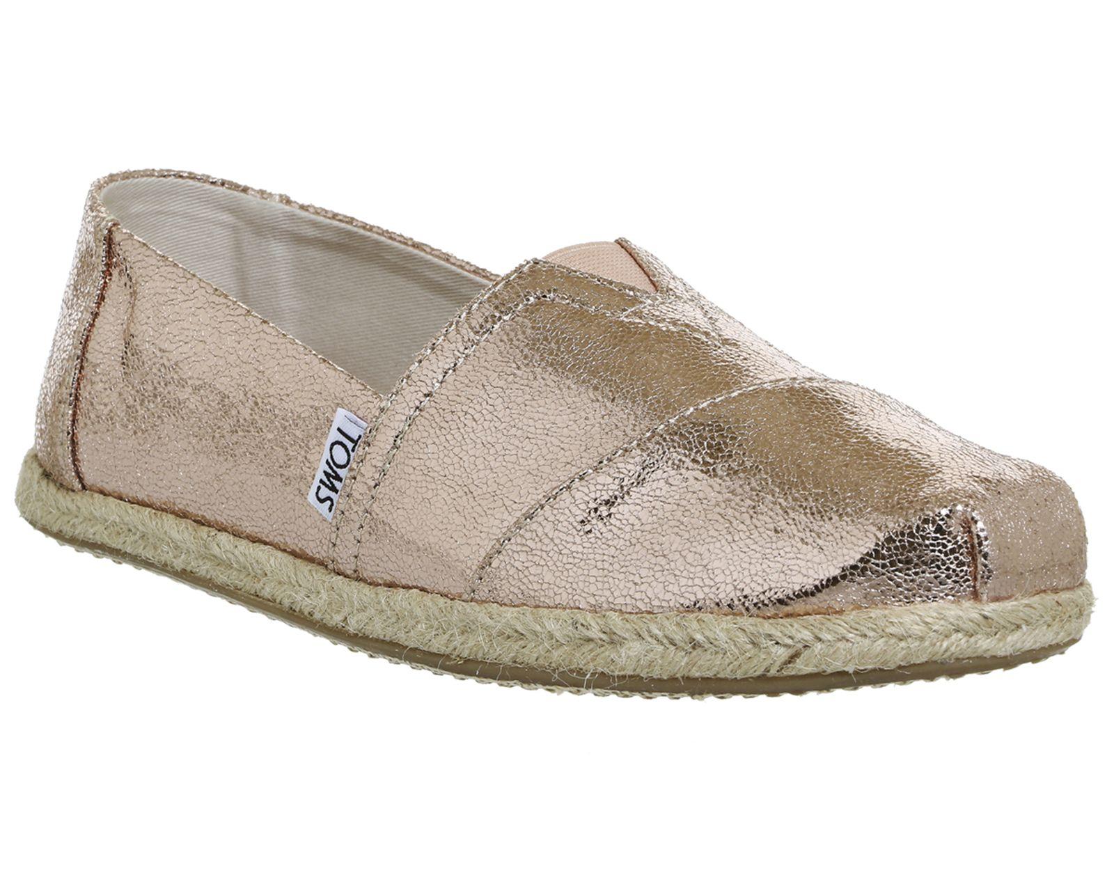 Toms Seasonal Classic Slip On Rose Gold Metallic Exclusive - Flats