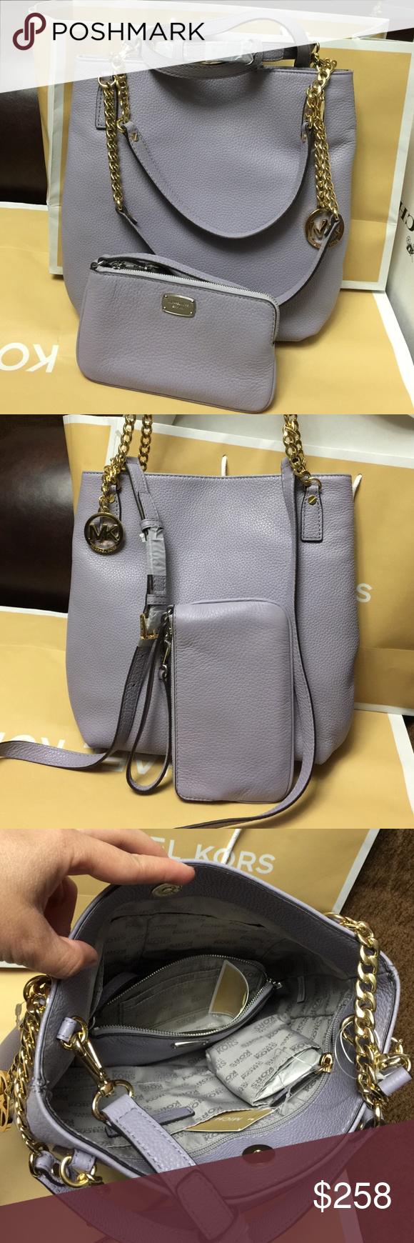 645f8b7bd0b8 Michael Kors Purse and Wristlet. Authentic Michael Kors Jet Set Chain  Items. MD Messenger. Lilac color, very beautiful Set. Price for both Michael  Kors Bags ...