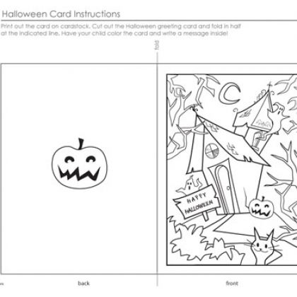 Happy Halloween Card To Color Halloween Cards Halloween Coloring Pages Spooky Halloween Crafts