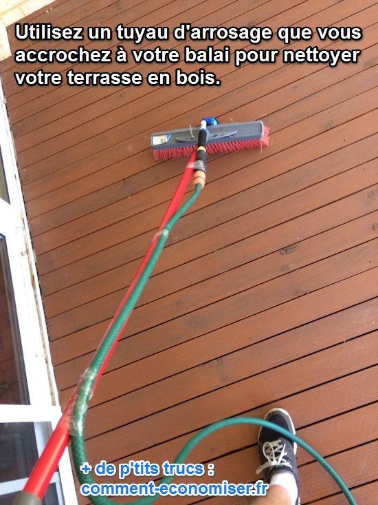 Lu0027Astuce La Plus Facile Pour Nettoyer Une Terrasse En Bois.