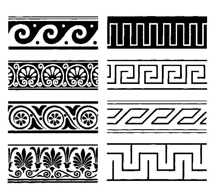 римские рисунки на вазах при организации небольших
