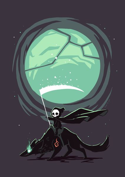 Little Reaper Art Print by Freeminds | Society6
