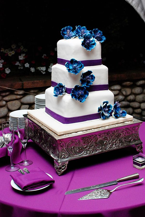 Beautiful Garden Wedding Blue CakesBlue