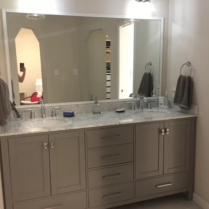 Newtown 72 Double Bathroom Vanity Set Reviews Joss Main In 2020 Bathroom Vanity Vanity Double Vanity Bathroom