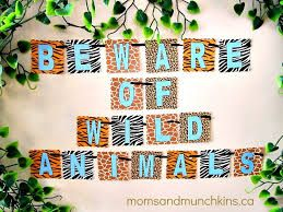 Image result for food labels in a jungle theme party