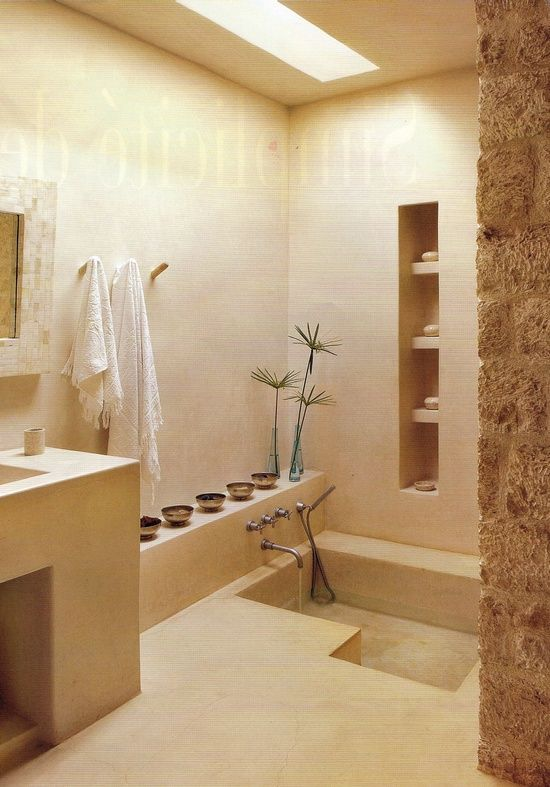 36 dream spa style bathrooms moroccan bathroom moroccan for Tadelakt bathroom ideas