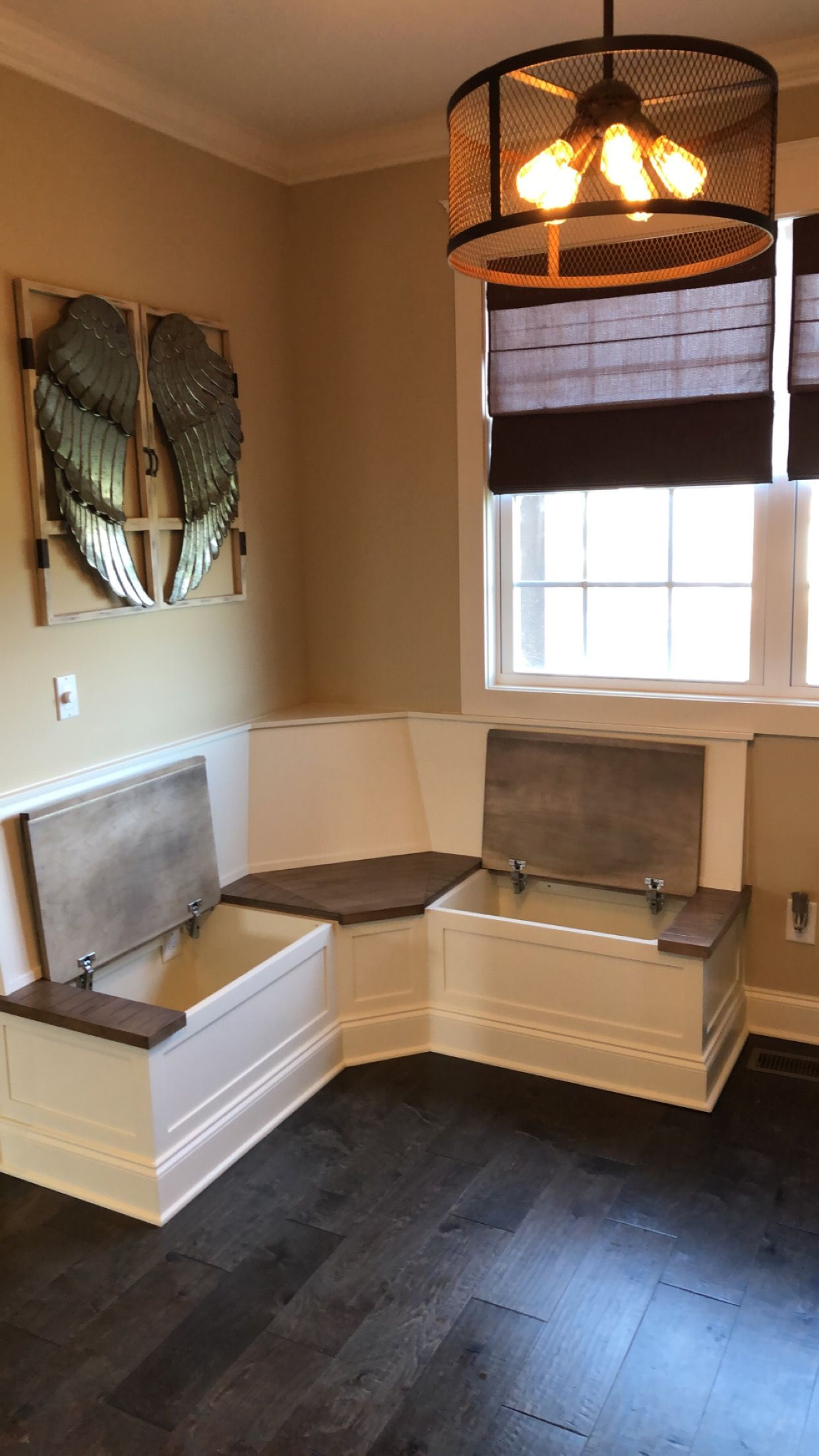 Our Built In Breakfast Nook Bench Matching Trim Shaker Style