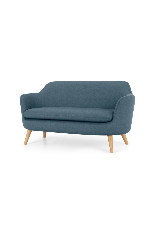 Made Sofa Blau Sofa 2 Sitzer Sofa Graues Sofa