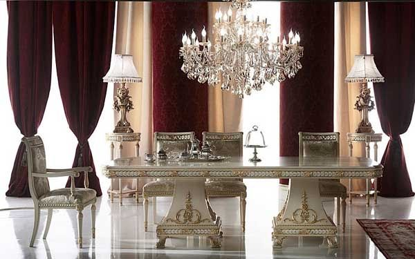 Neo baroque style furniture interior and furnishing rocco
