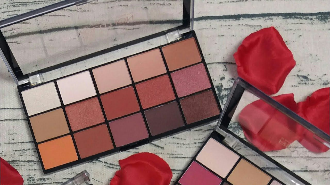 Makeup revolution reloaded iconic heat palette swatches
