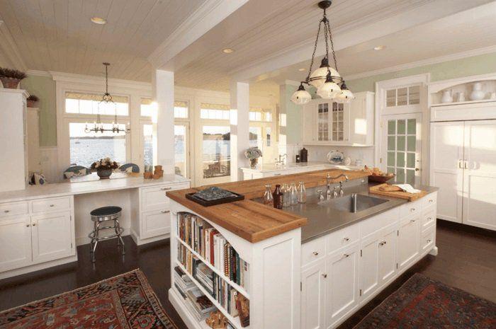kücheneinrichtung im landhausstil | landhausküche | pinterest ... - Moderne Landhauskche Mit Kochinsel