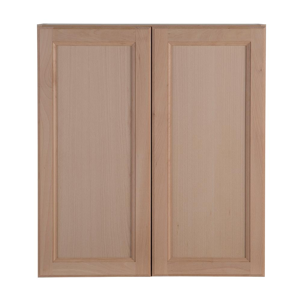 Hampton Bay Assembled 9x30x12 In Easthaven Wall Cabinet In Unfinished German Beech Eh0930w Gb Wall Cabinet Kitchen Interior Design Modern White Wood Kitchens