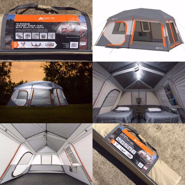 Ozark Trail 10 Person Instant Cabin Tent With Lights For Sale In Houston Tx Offerup Cabin Tent Cabin Lighting Ozark Trail