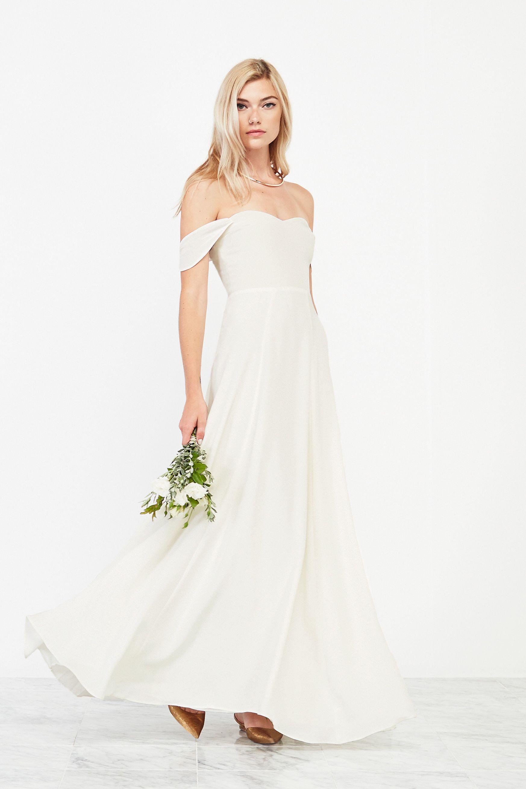 Buy short sleeve loose plain maxi dress Eco wedding