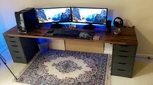2020 Setup Took Me 8 Hours To Complete I Know Ikea Karlby Desk Setup Is Common Now But I M Happy With My First Build In 2020 Desk Setup Home Office Setup Desk