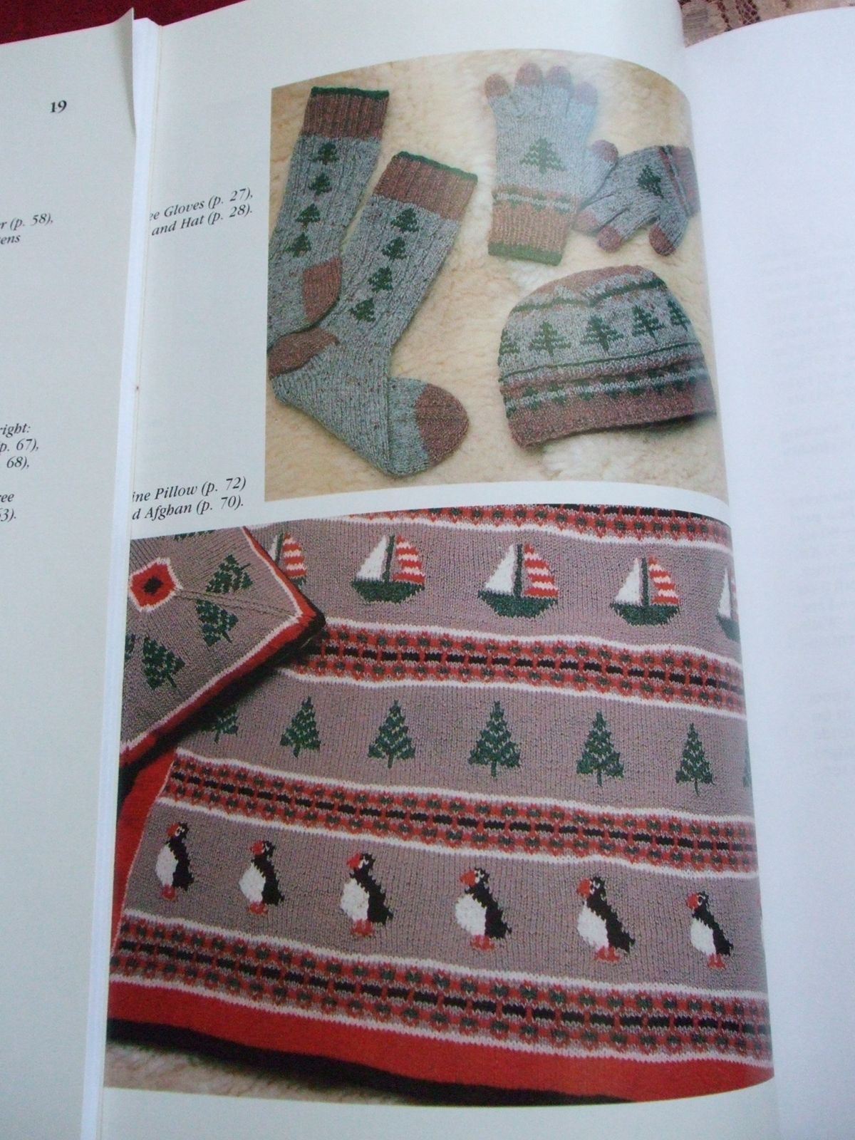 Second Silver - Head to toe Helene Rush 30 patterns book Maine Motifs Knitting afghans winter outer wear