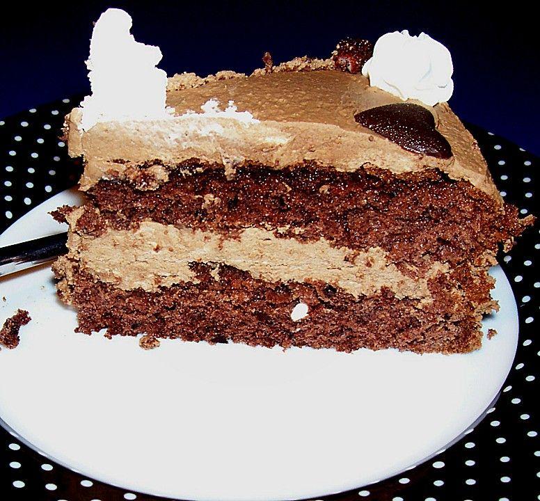Kleine Schokoladen - Kaffeecreme - Torte