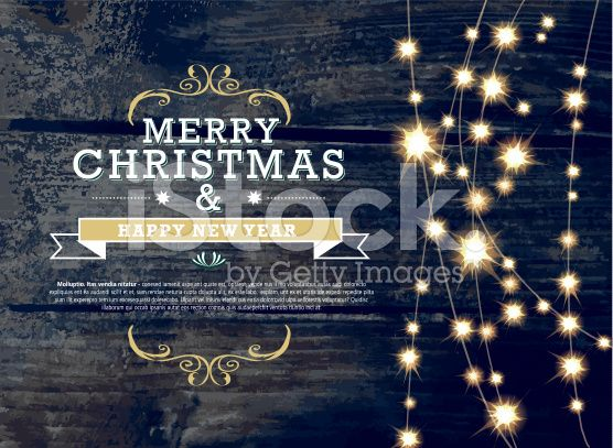 Vector Illustration Of Merry Christmas And New Year Invitation