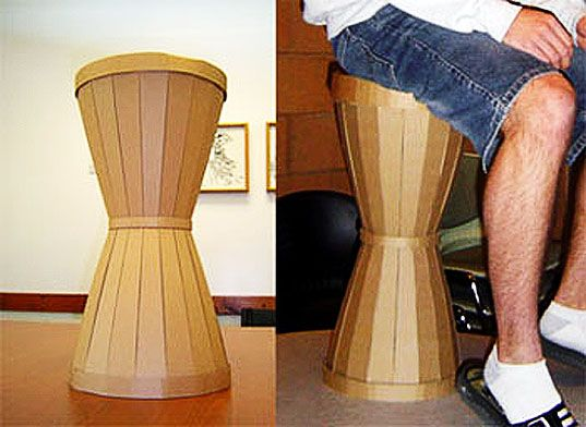 Craft Your Own Cardboard Hourglass Stool With These Easy Diy