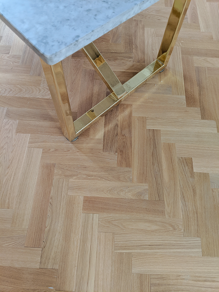Diy Laying Engineered Oak Parquet Flooring Interior