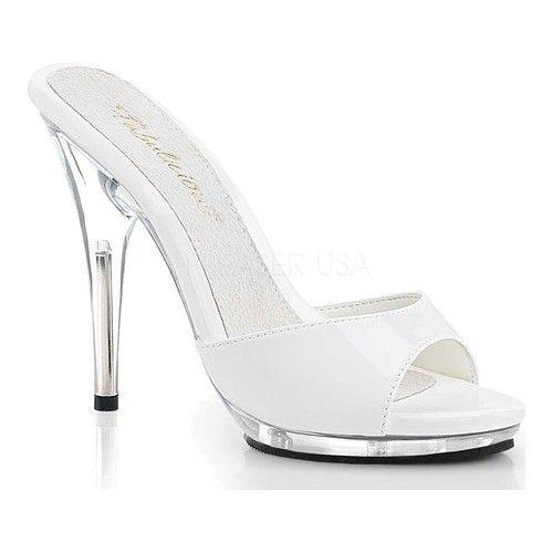 "3/"" Clear Low Heels Mens Crossdresser Drag Pageant Shoes Womans size 11 12 13 14"