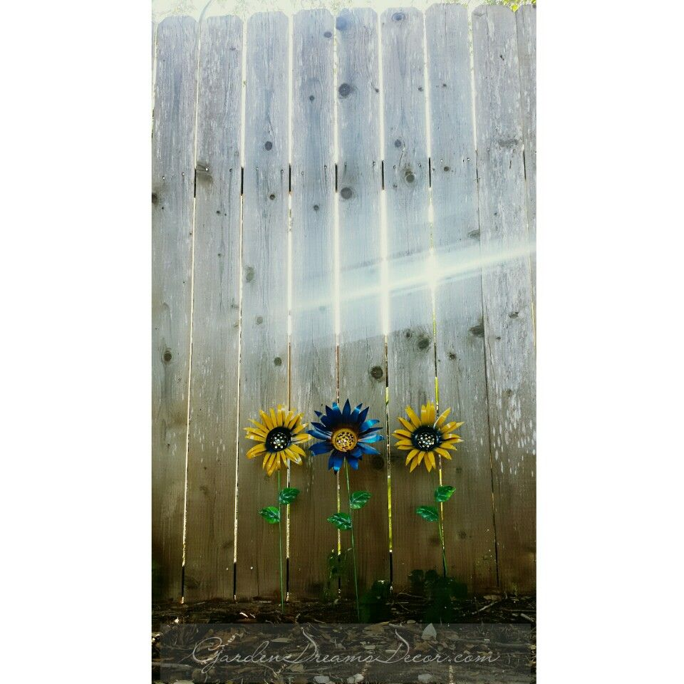 Sunflower Garden Decor, Garden Stakes, Yard Ornaments, Metal Art, And More  From